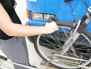 Step 3 securing your bike